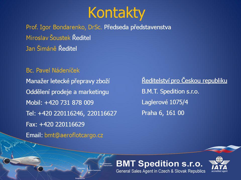 Kontakty Prof.Igor Bondarenko, DrSc.