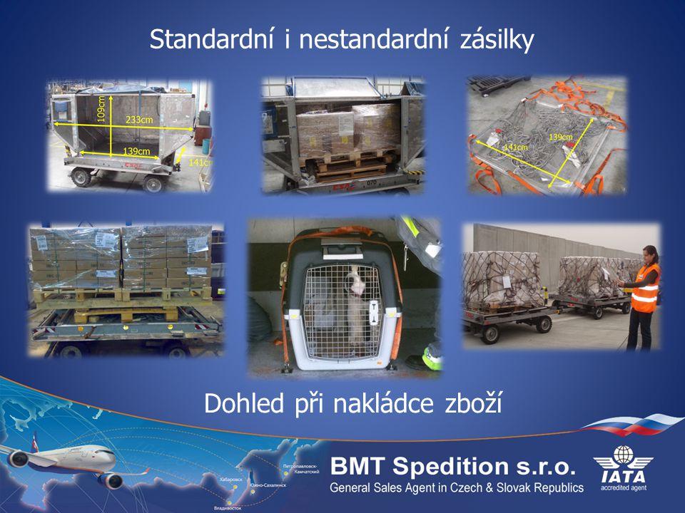 Standardní i nestandardní zásilky Dohled při nakládce zboží