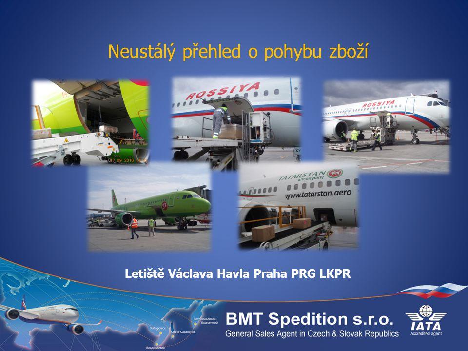 Neustálý přehled o pohybu zboží Letiště Václava Havla Praha PRG LKPR