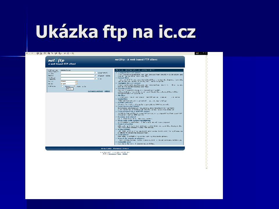 2009 Ukázka ftp na ic.cz