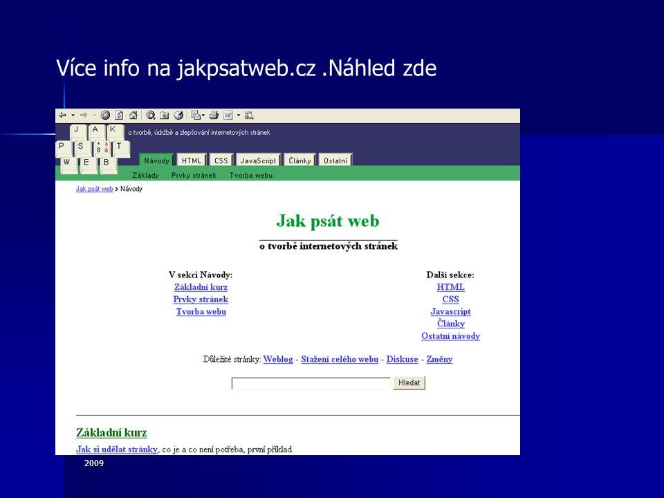 2009 Více info na jakpsatweb.cz.Náhled zde