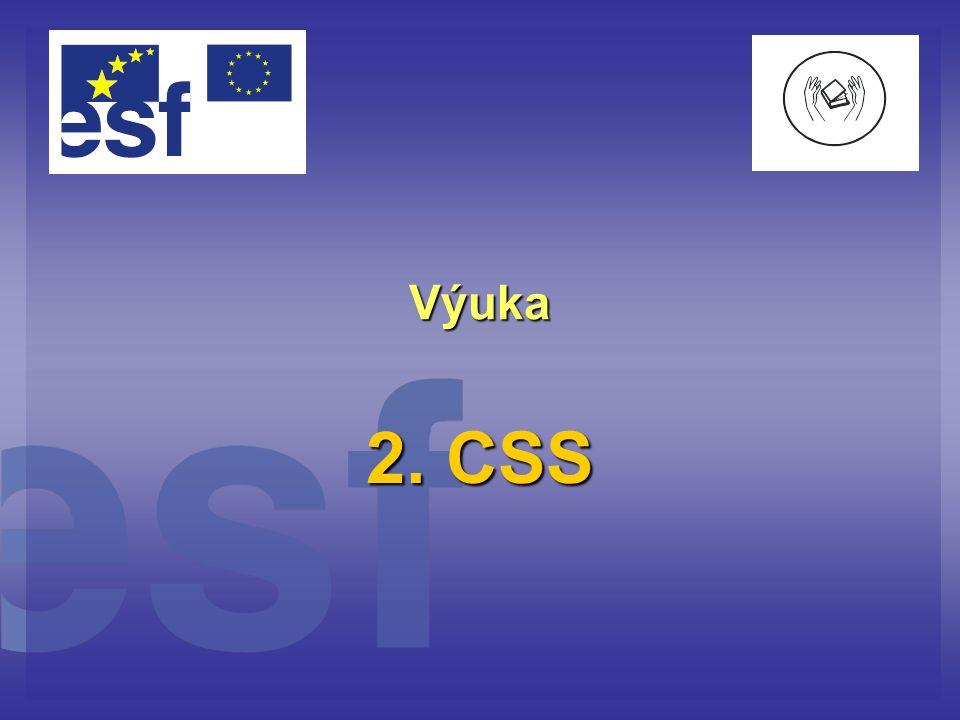 Výuka 2. CSS