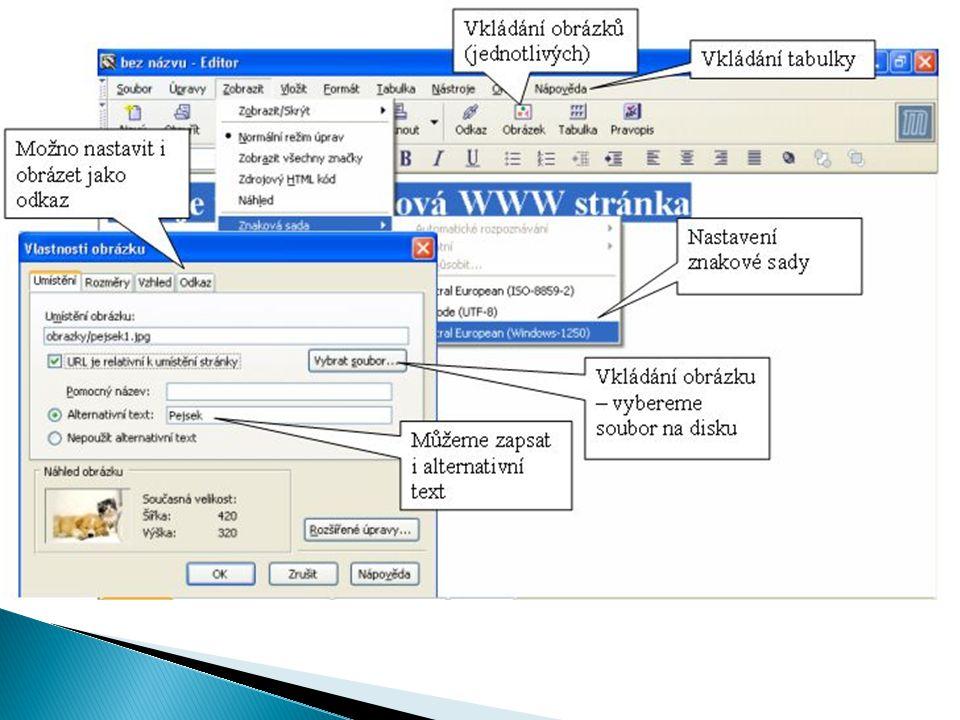  Rámy v HTML umožňují rozdělit okno prohlížeče na několik částí.