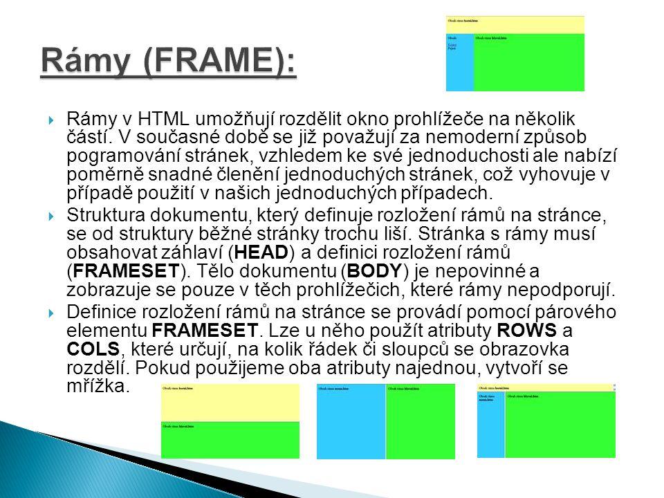  Jednoduchý program, který nám může pomoct v tvorbě www stránek: