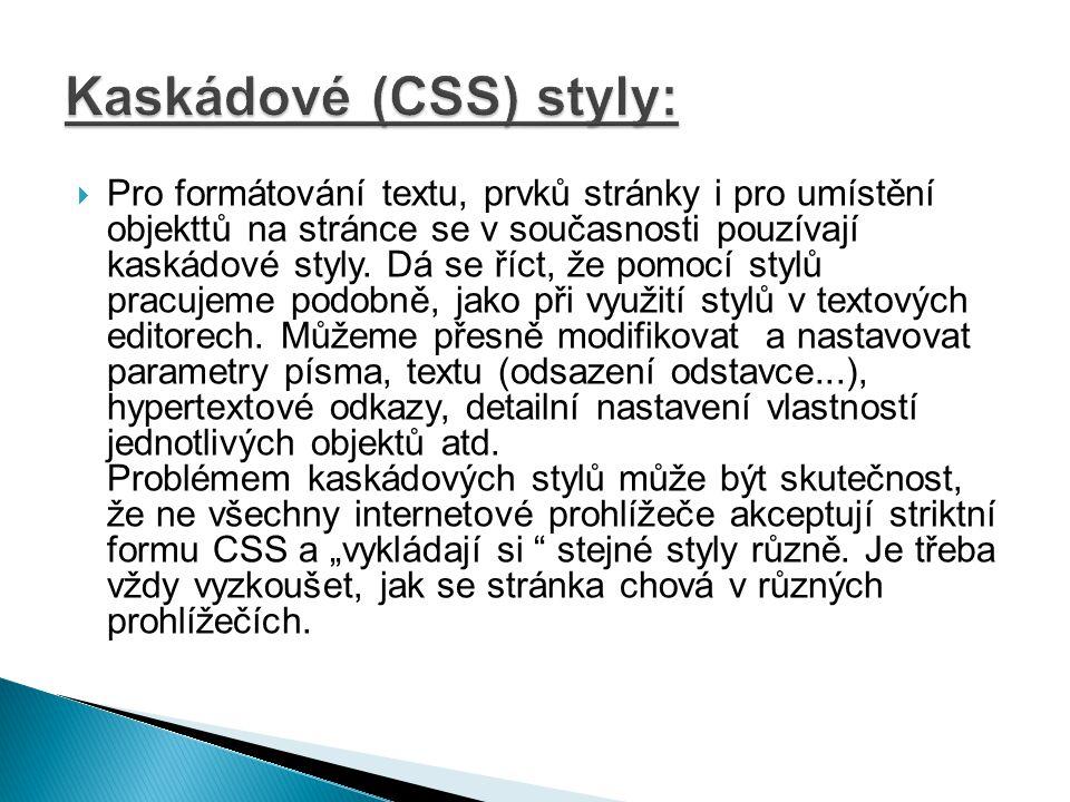  CSS styly je možno definovat třemi způsoby.