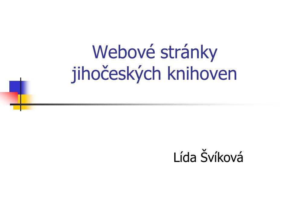 Webové stránky jihočeských knihoven Lída Švíková