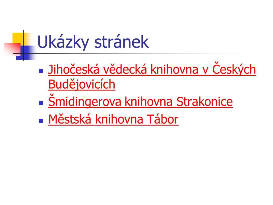 Zřizované organizace Obec Dubné Město Vimperk Město Hluboká nad Vltavou