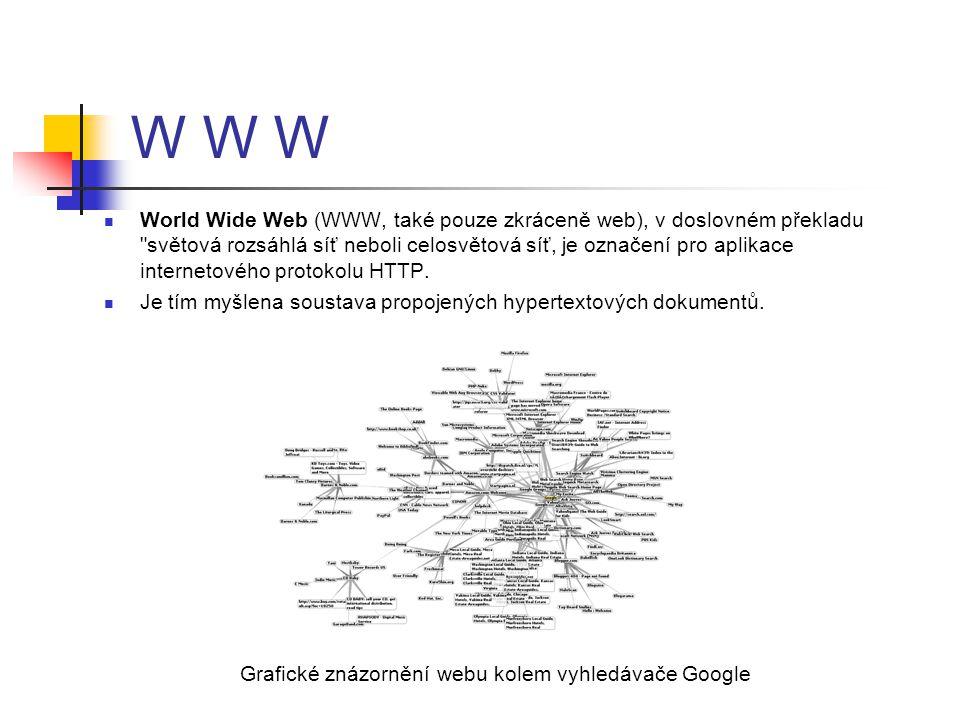 W W W World Wide Web (WWW, také pouze zkráceně web), v doslovném překladu