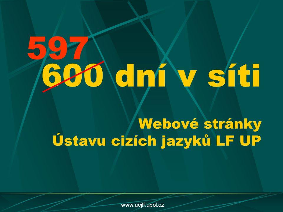 www.ucjlf.upol.cz 600 dní v síti Webové stránky Ústavu cizích jazyků LF UP 597