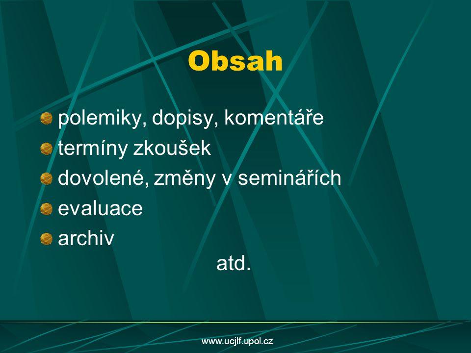 www.ucjlf.upol.cz http://www.ucjlf.upol.cz univerzita palackého olomouc ústav cizích jazyků lékařské fakulty