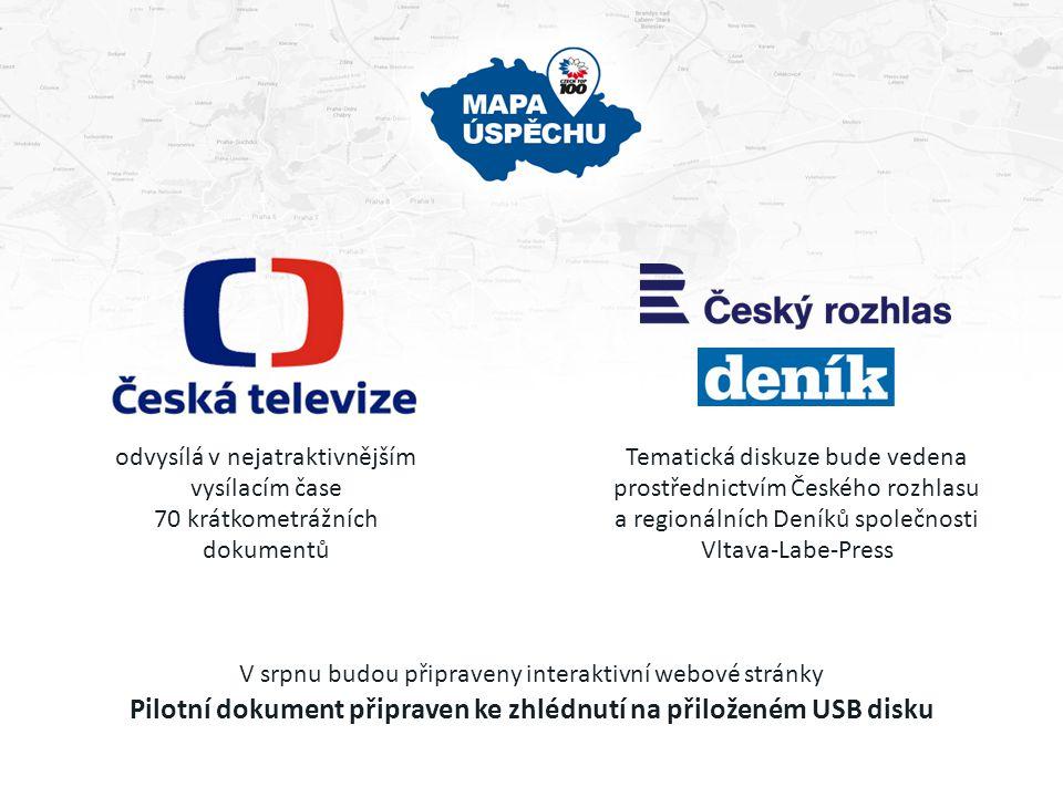 odvysílá v nejatraktivnějším vysílacím čase 70 krátkometrážních dokumentů Tematická diskuze bude vedena prostřednictvím Českého rozhlasu a regionálníc