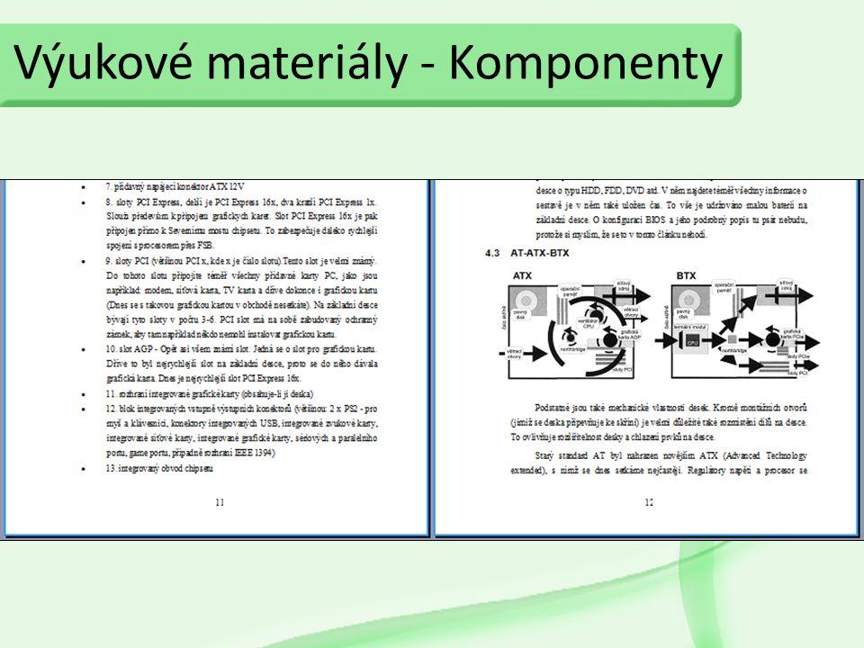Výukové materiály - Komponenty