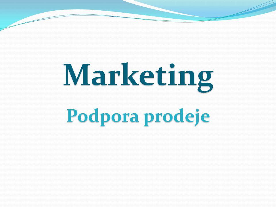 Reklama přesvědčuje o důvodu koupit výrobek, podpora prodeje představuje konkrétní motiv koupě.