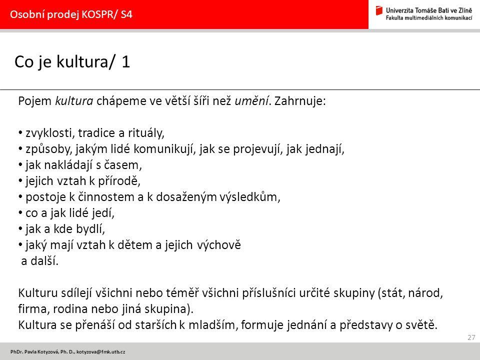27 PhDr.Pavla Kotyzová, Ph.
