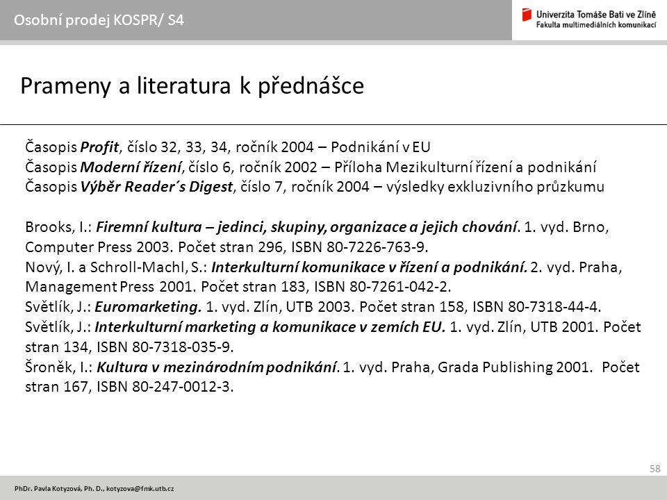 58 PhDr.Pavla Kotyzová, Ph.