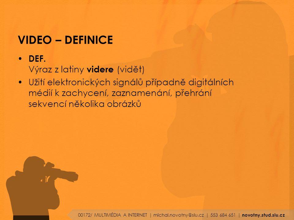 VIDEO – DEFINICE DEF.