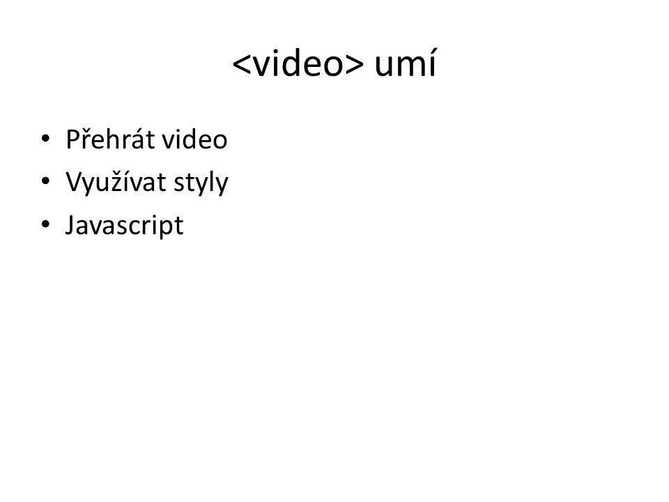 DEMO Co všechno umí video element