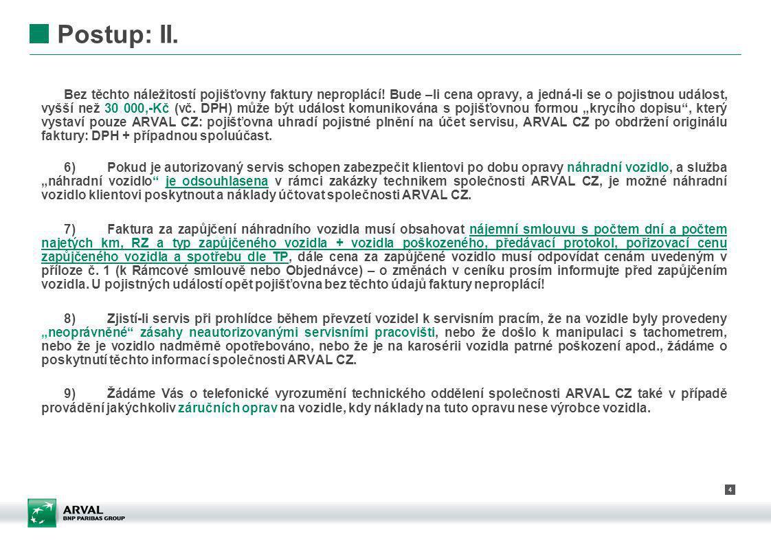 5 Postup: III.