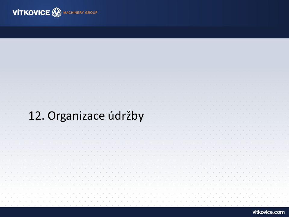 12. Organizace údržby