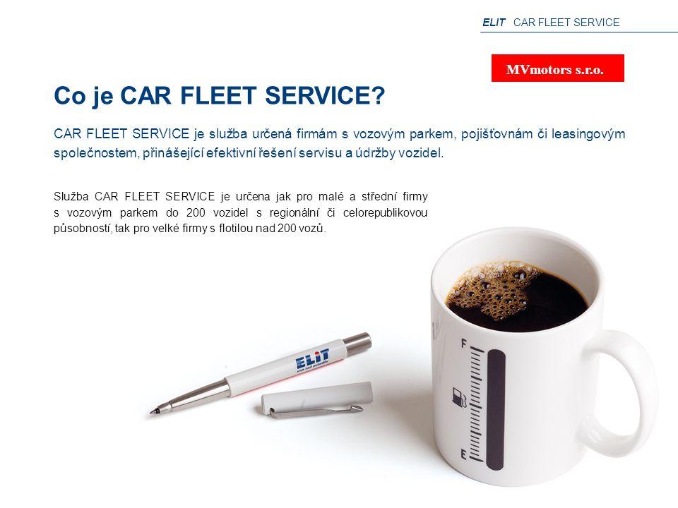 ELIT CAR FLEET SERVICE Co je CAR FLEET SERVICE? Služba CAR FLEET SERVICE je určena jak pro malé a střední firmy s vozovým parkem do 200 vozidel s regi
