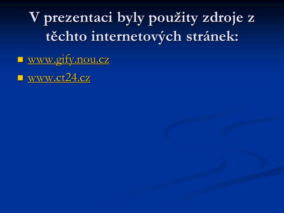 V prezentaci byly použity zdroje z těchto internetových stránek: www.gify.nou.cz www.gify.nou.cz www.gify.nou.cz www.ct24.cz www.ct24.cz www.ct24.cz