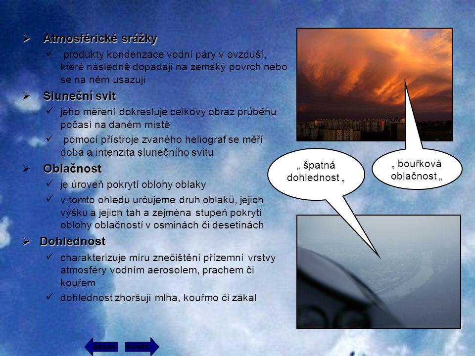  A A A Atmosférické srážky produkty kondenzace vodní páry v ovzduší, které následně dopadají na zemský povrch nebo se na něm usazují S SS Sluneč