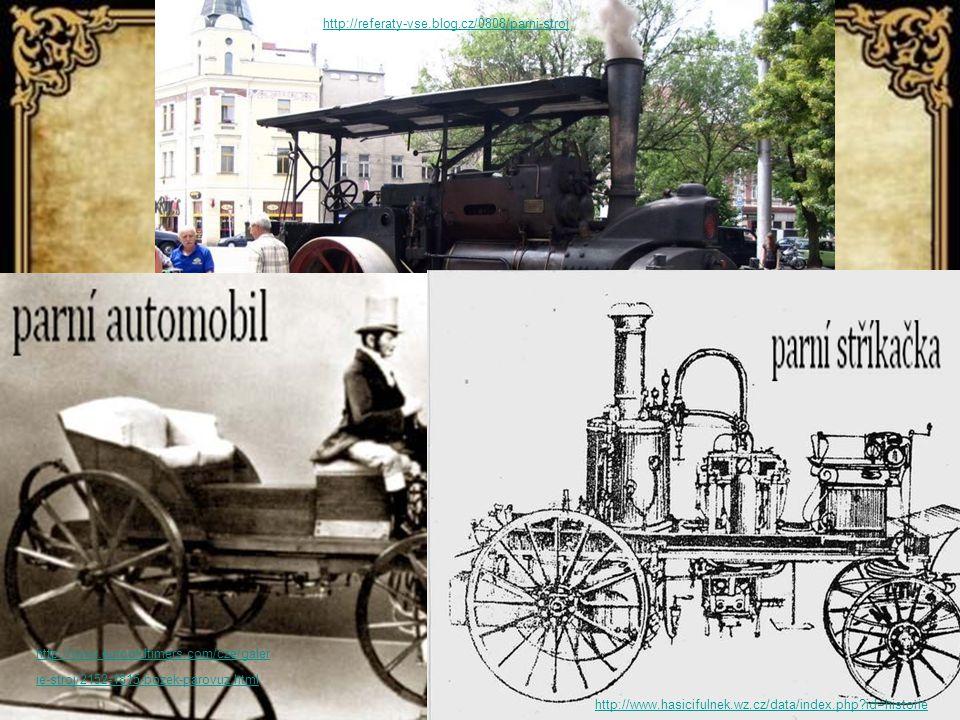 http://referaty-vse.blog.cz/0808/parni-stroj http://www.eurooldtimers.com/cze/galer ie-stroj/2152-1815-bozek-parovuz.html http://www.hasicifulnek.wz.cz/data/index.php?id=historie