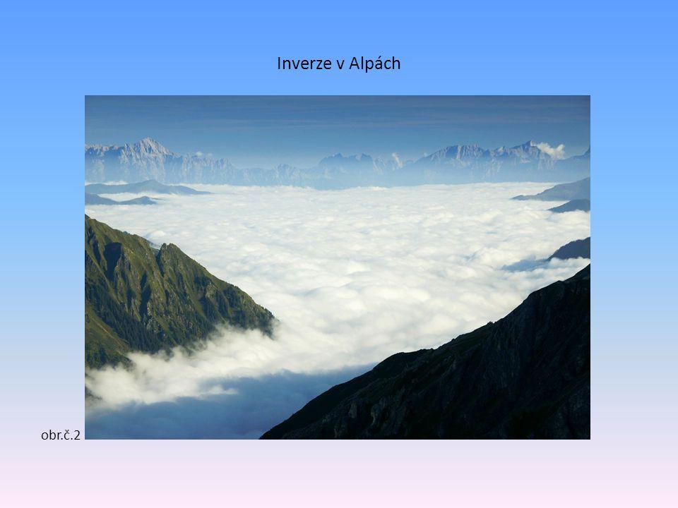 Inverze v Alpách obr.č.2