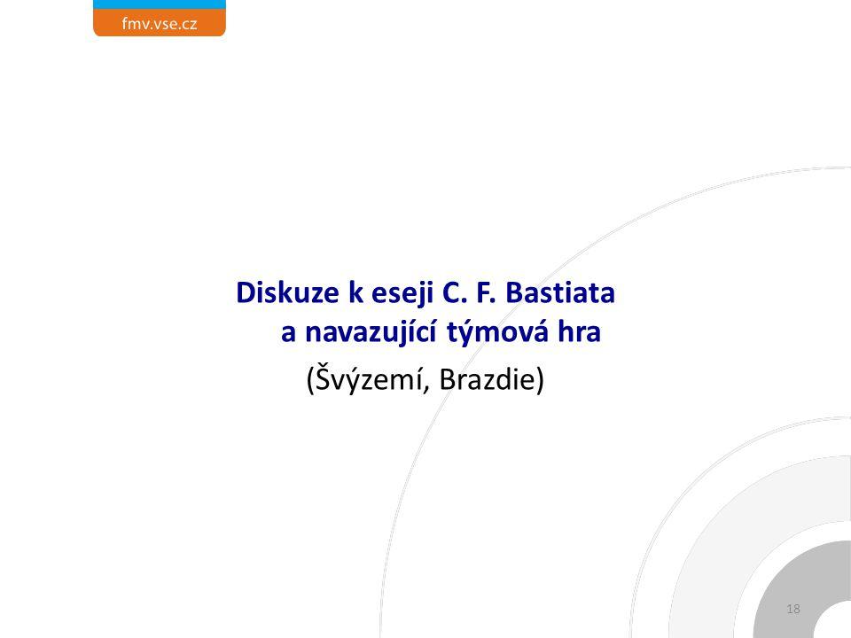 Diskuze k eseji C. F. Bastiata a navazující týmová hra (Švýzemí, Brazdie) 18