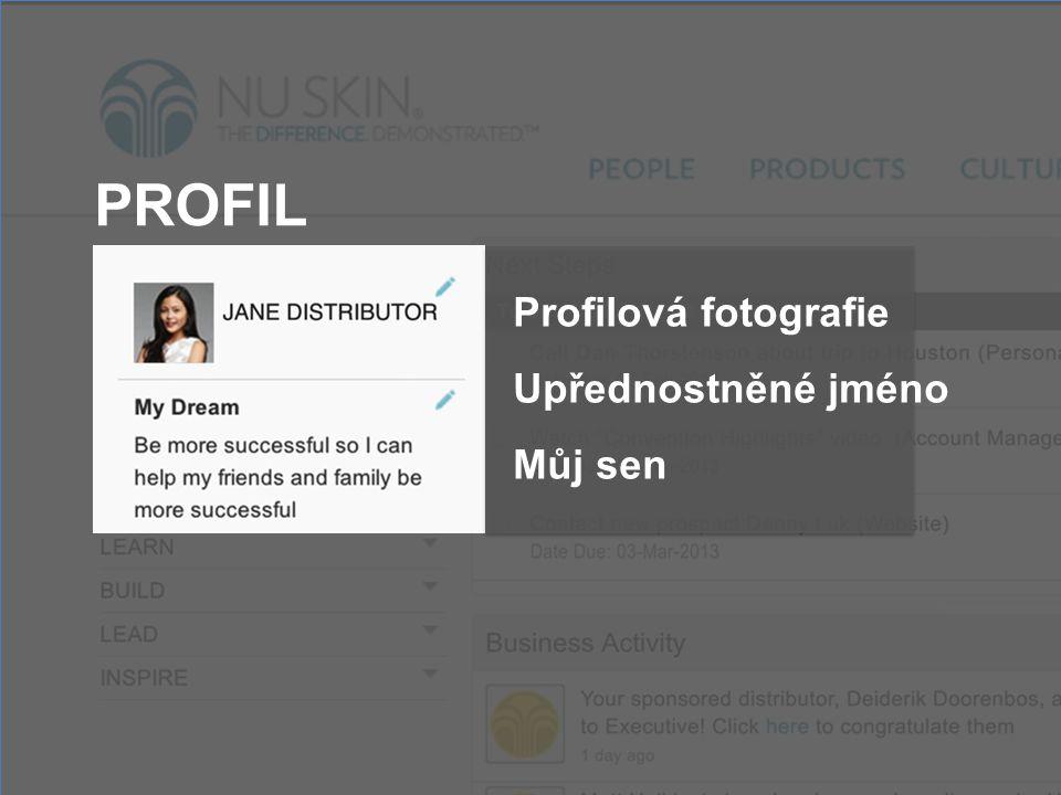 PROFIL Profilová fotografie Upřednostněné jméno Můj sen