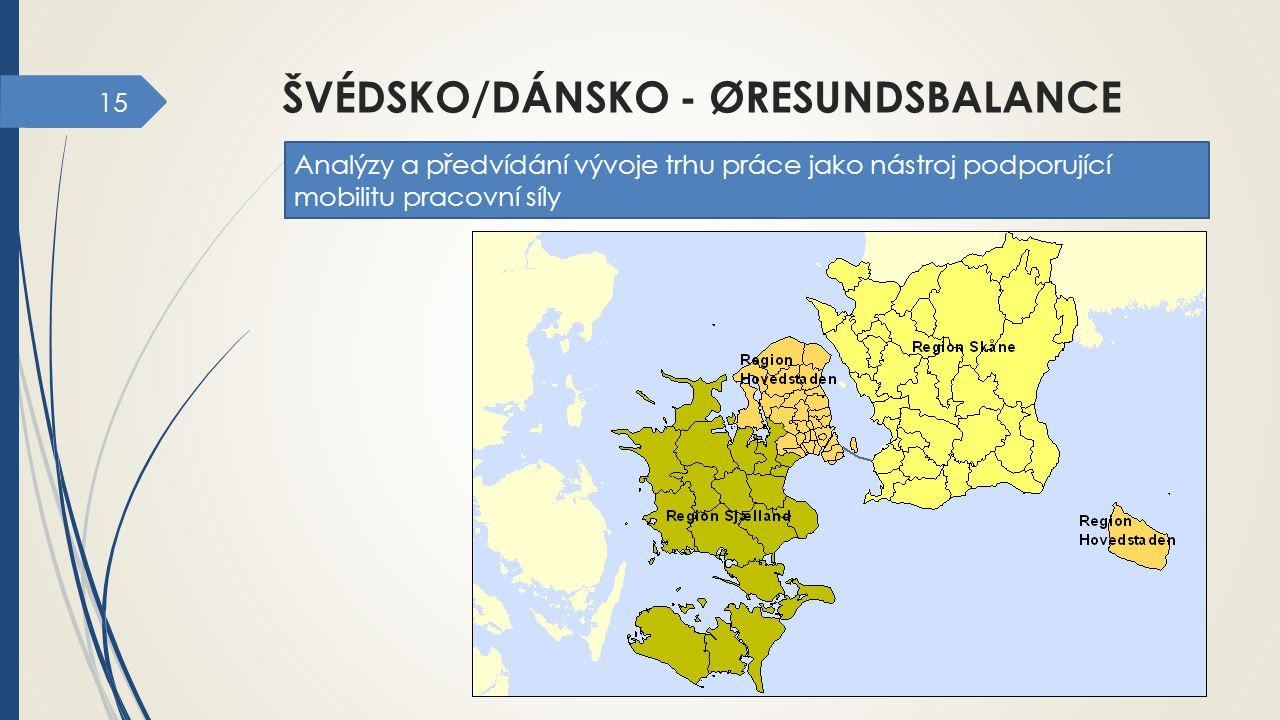 15 ŠVÉDSKO/DÁNSKO - ØRESUNDSBALANCE Analýzy a předvídání vývoje trhu práce jako nástroj podporující mobilitu pracovní síly