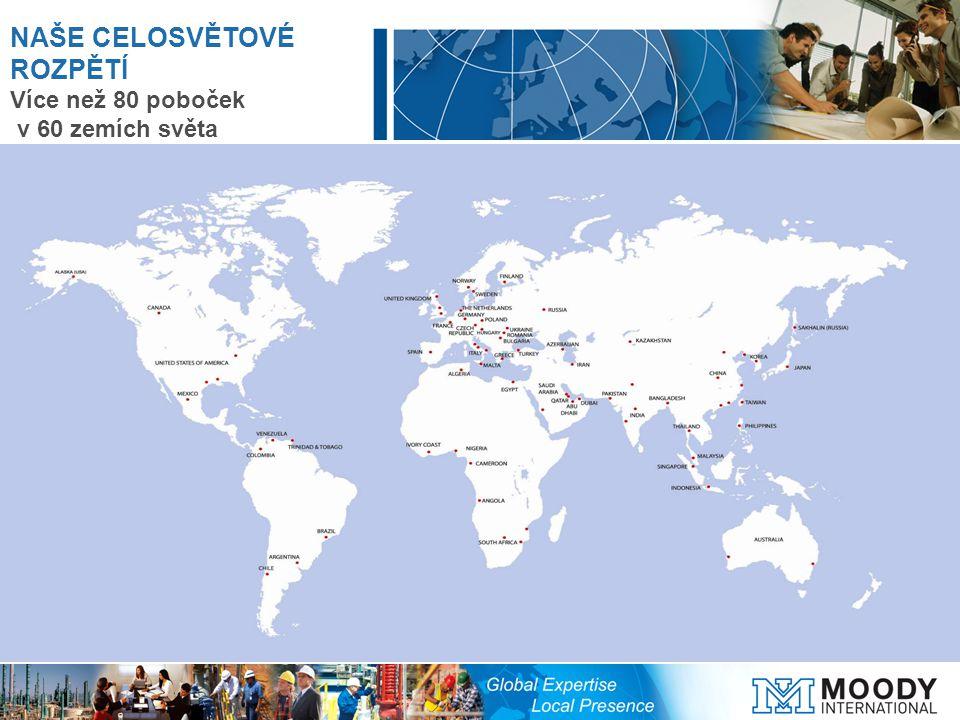 NAŠE CELOSVĚTOVÉ ROZPĚTÍ Více než 80 poboček v 60 zemích světa