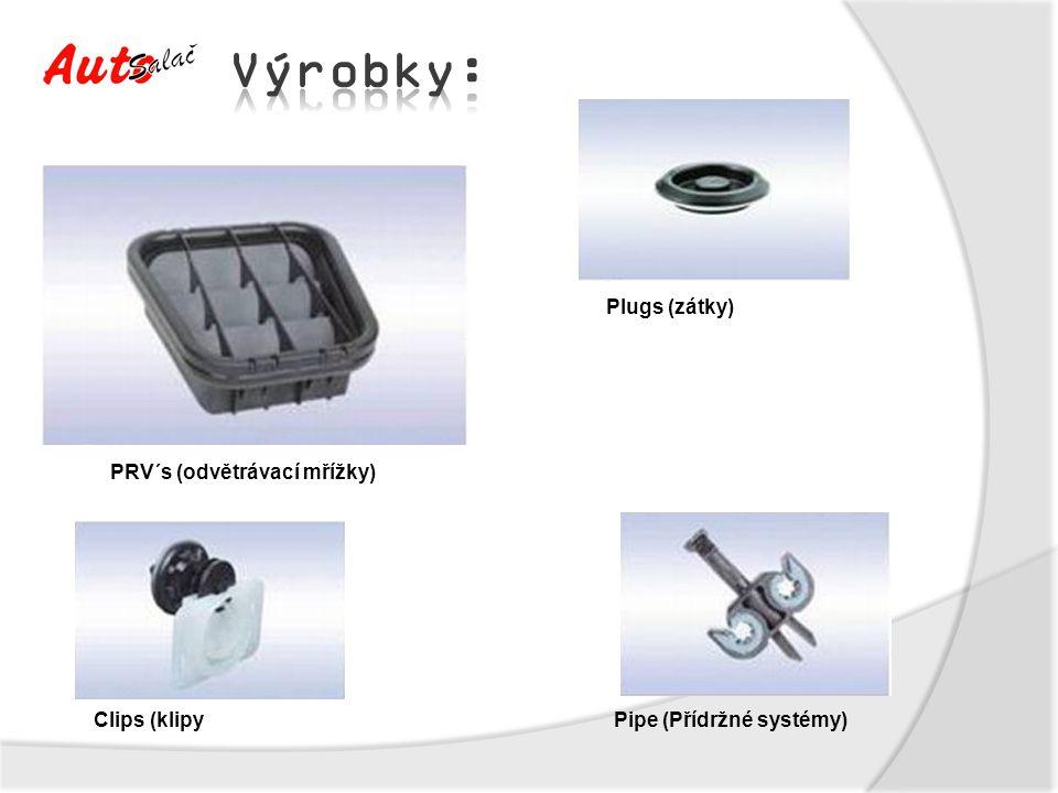 PRV´s (odvětrávací mřížky) Plugs (zátky) Pipe (Přídržné systémy)Clips (klipy
