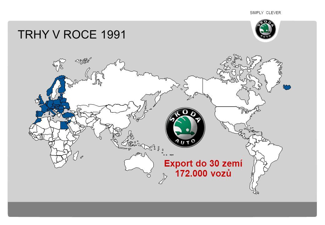 SIMPLY CLEVER TRHY V ROCE 1991 Export do 30 zemí 172.000 vozů
