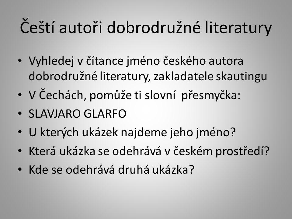 Jaroslav Foglar Kterou knihu nebo komix od Jaroslava Foglara znáš.