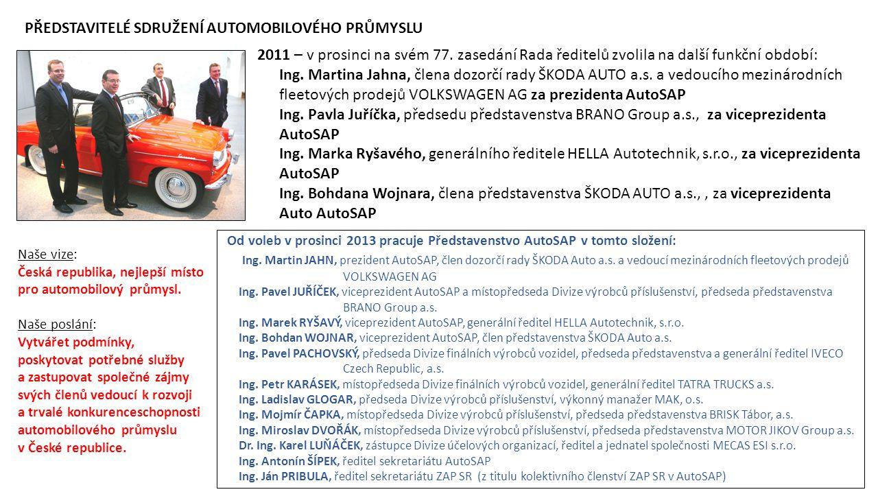 2011 – v prosinci na svém 77. zasedání Rada ředitelů zvolila na další funkční období: Ing. Martina Jahna, člena dozorčí rady ŠKODA AUTO a.s. a vedoucí