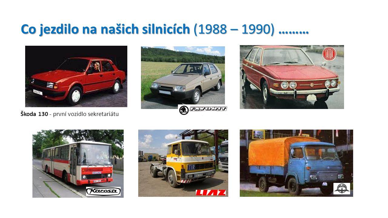 Škoda 130 - první vozidlo sekretariátu Co jezdilo na našich silnicích (1988 – 1990) ………