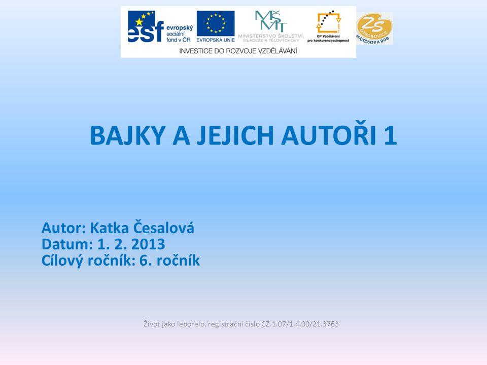 Vzdělávací oblast: Jazyk a jazyková komunikace Vzdělávací obor: Literatura a čtenářství 6.