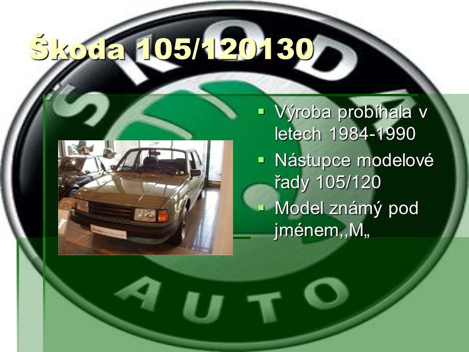 Škoda Rapid  Výroba probíhala v letech 1984-1990  Nástupce Škody Garde  Odvozen od Škody 105/120/130