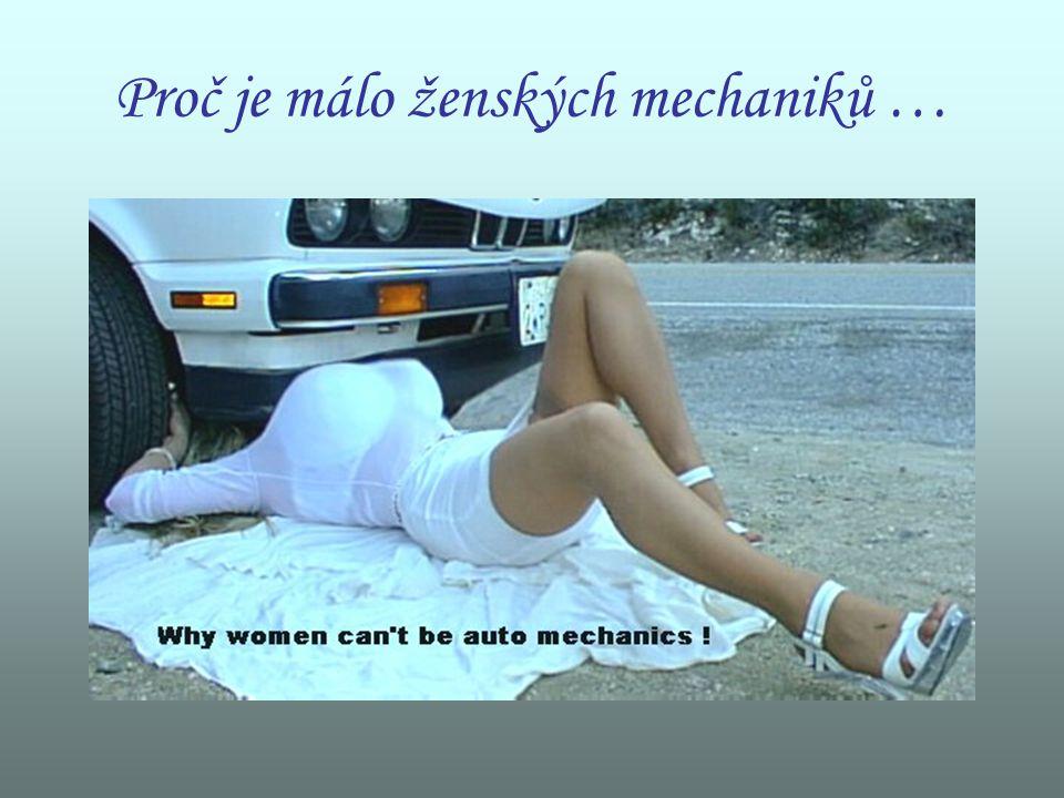 Proč je málo ženských mechaniků …