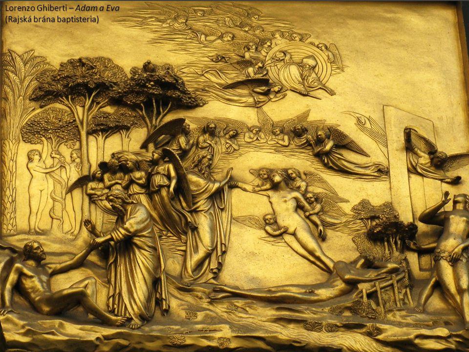 Lorenzo Ghiberti – Adam a Eva (Rajská brána baptisteria)