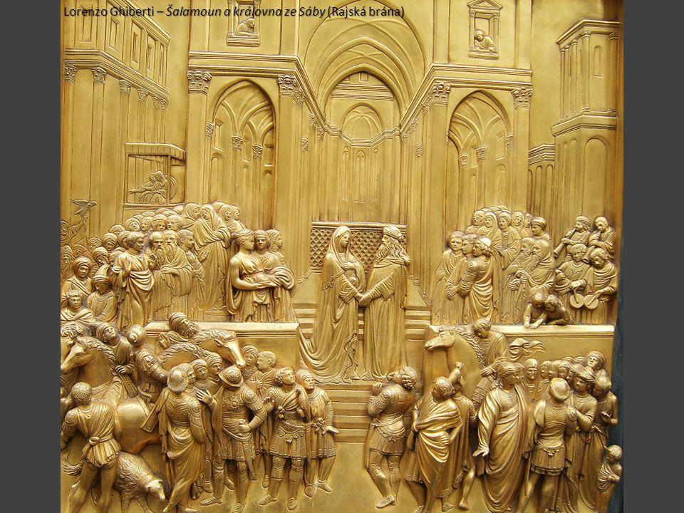 Lorenzo Ghiberti – Šalamoun a královna ze Sáby (Rajská brána)