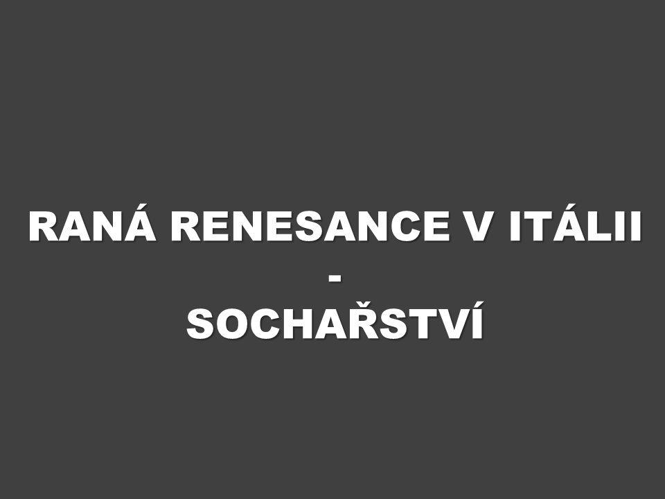 ÚVOD Výukový materiál Raná renesance v Itálii – sochařství obsahuje informace o nejvýznamnějších podobách sochařství v 15.