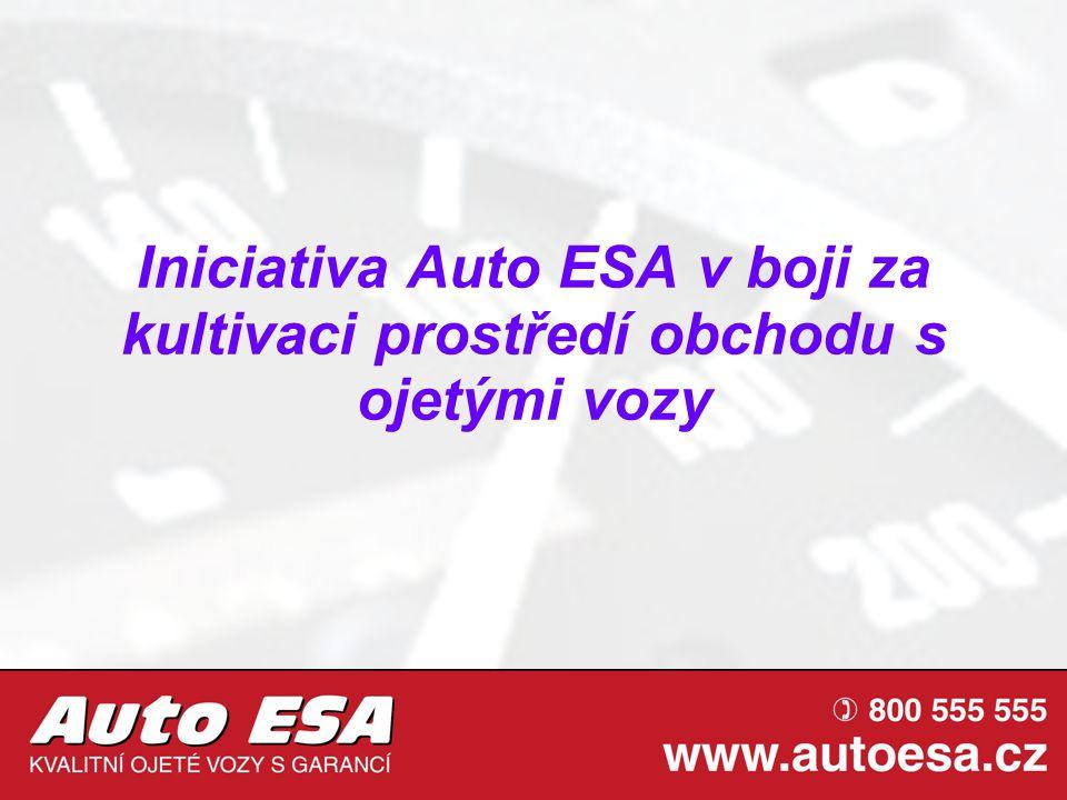 Auto ESA – pozice na trhu V roce 2009 bylo v AE prodáno téměř 7 tisíc vozidel Druhý největší autobazar v ČR V létě 2010 otevřena pobočka ŠKODOVKY.CZ Samostatný prodej užitkových automobilů – DODAVKY.CZ Denně v nabídce více než 1300 vozidel Auto ESA je významný prodejce, který problematiku legislativy, upravující obchod s ojetými vozy, velmi citlivě vnímá
