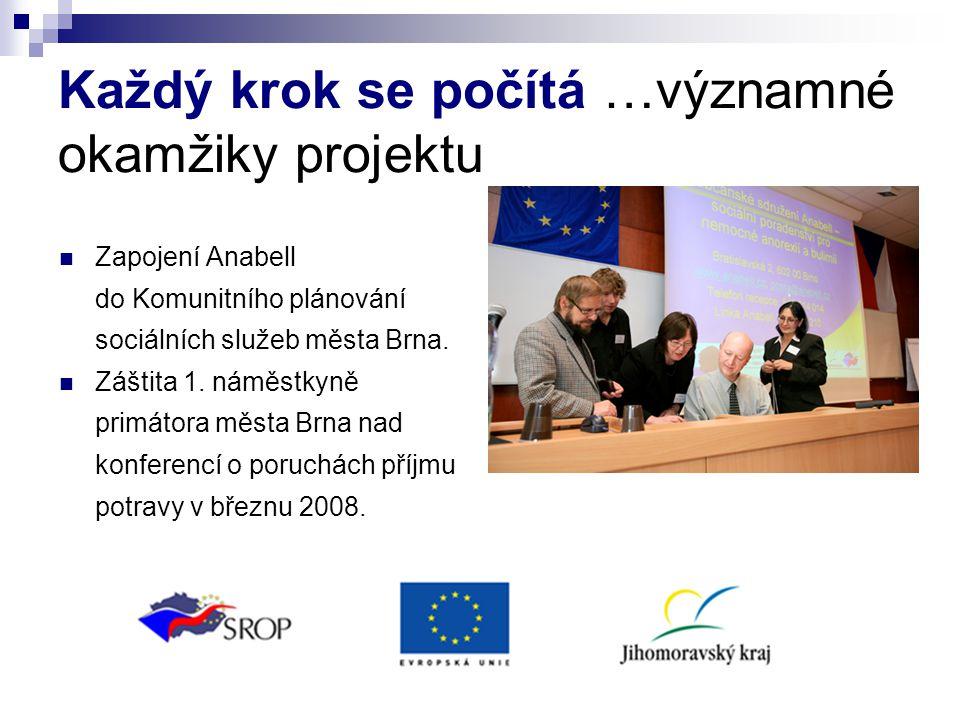 Každý krok se počítá …významné okamžiky projektu Zapojení Anabell do Komunitního plánování sociálních služeb města Brna. Záštita 1. náměstkyně primáto