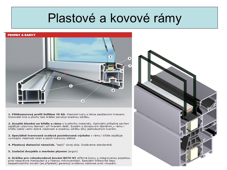 Plastové a kovové rámy