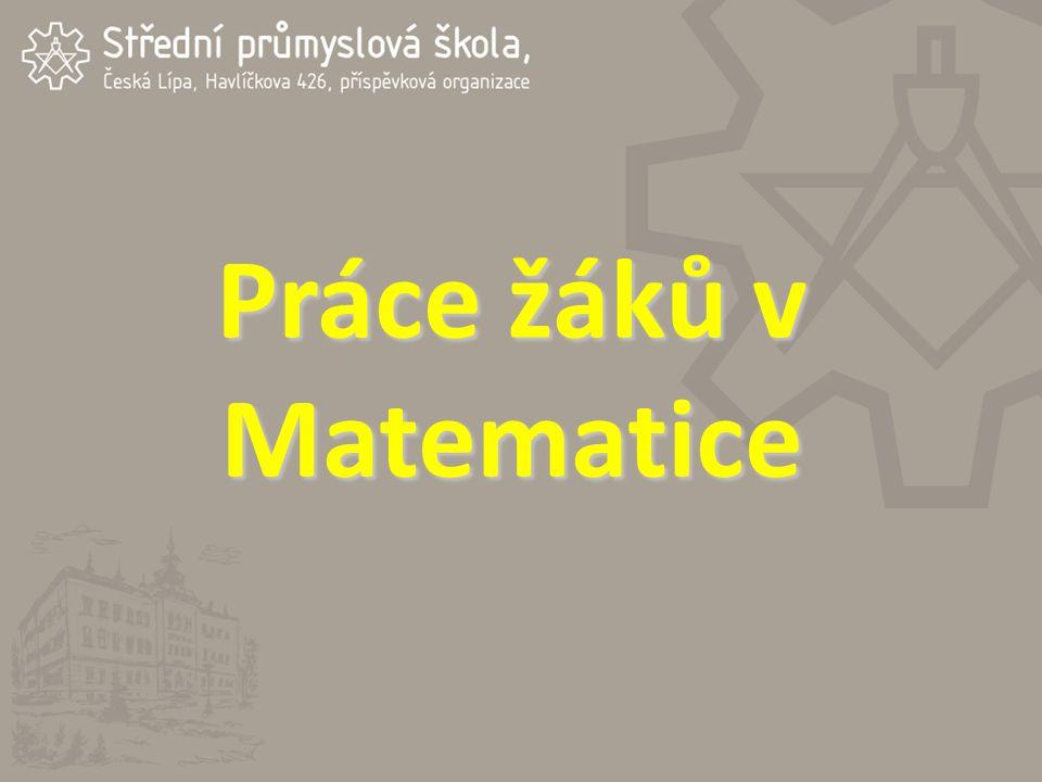 Práce žáků v Matematice
