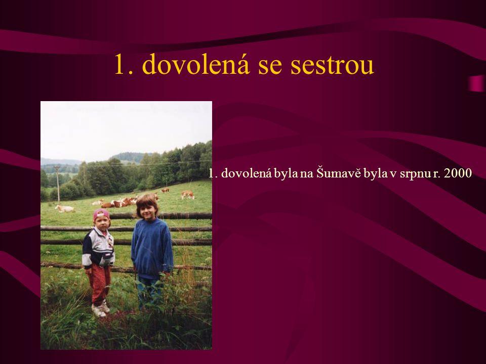 1. dovolená se sestrou 1. dovolená byla na Šumavě byla v srpnu r. 2000