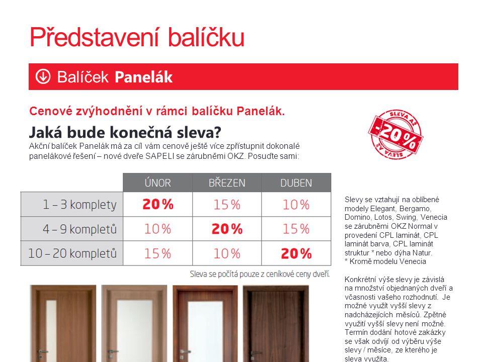 Představení balíčku Balíček Panelák Cenové zvýhodnění v rámci balíčku Panelák.
