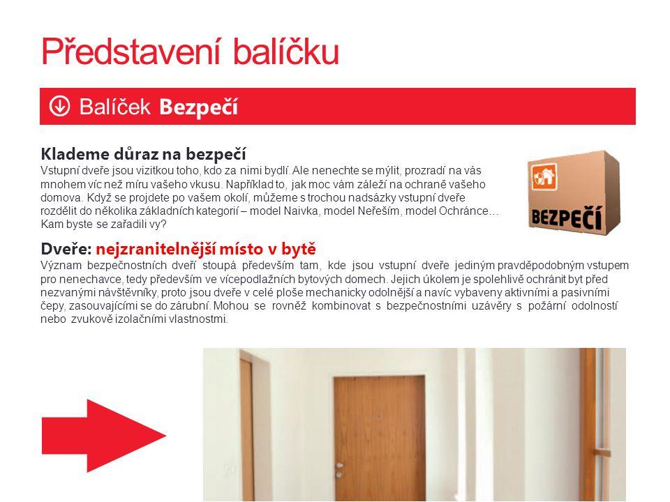 Představení balíčku Balíček Bezpečí Klademe důraz na bezpečí Vstupní dveře jsou vizitkou toho, kdo za nimi bydlí.